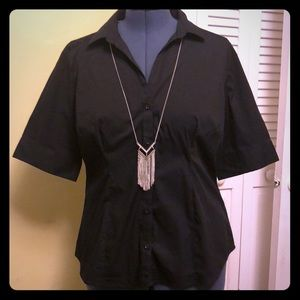 Black button down blouse in XL by Simply Styled